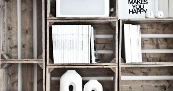 .DIY. Wooden crates. Fruit box. Wooden box. Cajas de madera. Caja de