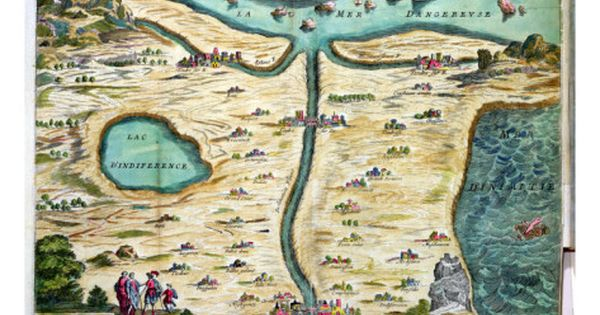 The Carte De Tendre A Map Of An Imaginary Country Giclee Print