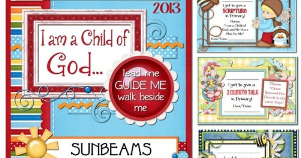 2013 Printables for LDS Primary... lipbalm labels ...