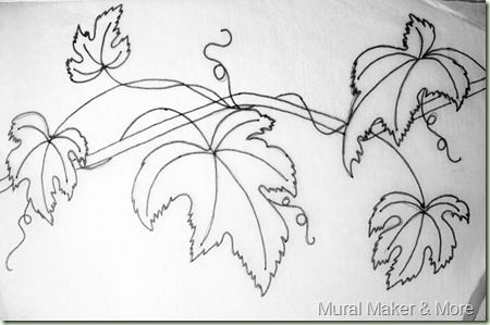 Line Art Grapes Grape Leaves Just Paint It Blog Vine Drawing Glass Painting Designs Flower Drawing
