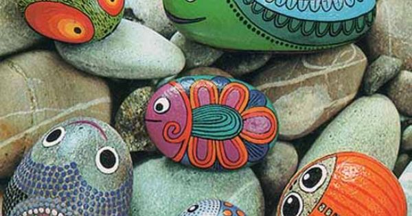 Painted stones - great garden decorations