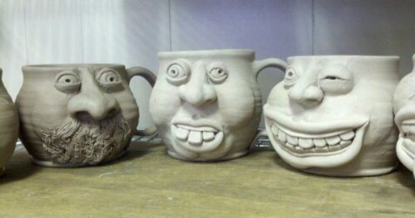 face mugs, do any of these look familiar? | Clay - Face ...