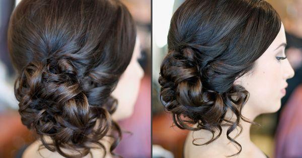 Curled side bun - formal updos :) bridesmaids hair