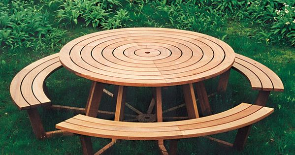 Free Picnic Table Plans  Picnic Tables  Pinterest  테이블, 의자 및 책상