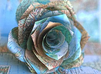 map roses - love this idea!