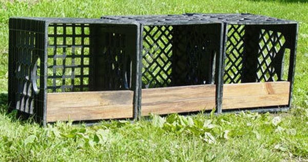 Milk crate nesting boxes for the farm pinterest nest for Wooden chicken crate plans