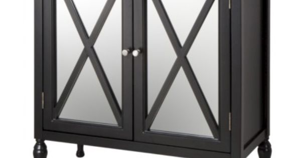 Hollywood Mirrored Accent Cabinet Black Accent Cabinet Accent Mirrors Hollywood Mirror