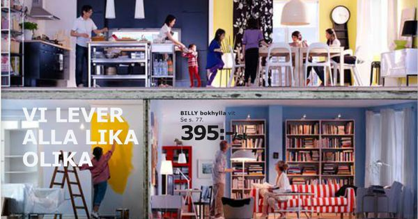 we all live differently ikea 2010 ikea catalogue covers pinterest catalog cover and. Black Bedroom Furniture Sets. Home Design Ideas