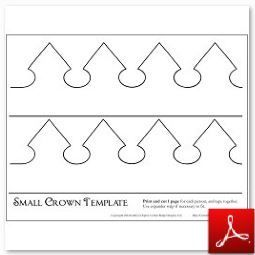 Small Paper Crown Template Crown Template Crown Crafts Paper Crowns