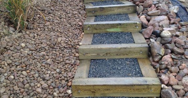 Building Steps On A Steep Slope Timber Stairs On Steep