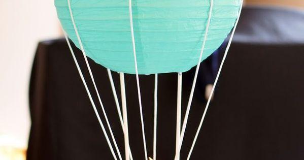 Beautiful baby shower centerpiece idea hot air balloon