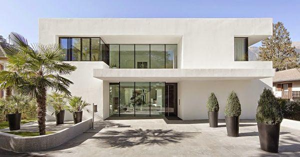 Casa toda branca com planta arquitetura e decora o for Casa minimalista blog