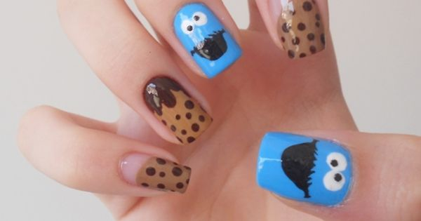Cookie Monster Nails!!! idea for ray-ray