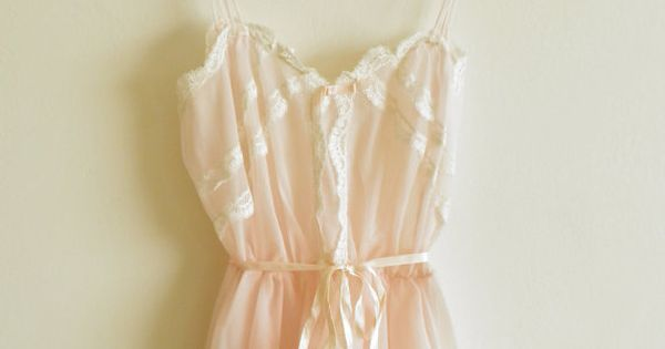 Vintage Lace and Chiffon Lingerie in Soft Pink $74 - Budoir Session
