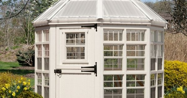 Little Cottage 8 X Ft Octagon Greenhouse With Floor Kit