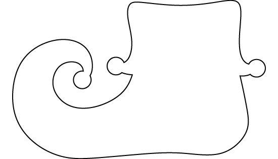 Légend image for elf shoe pattern printable