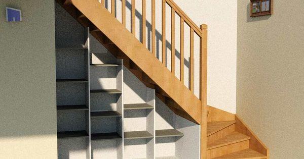 etag re sous escalier mod le basique d 39 am nagement sous. Black Bedroom Furniture Sets. Home Design Ideas