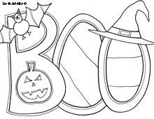 Boo Coloring Page Halloween Coloring Sheets Halloween