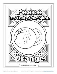 Fruit Of The Spirit For Kids Peace Coloring Page Fruit Of The