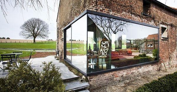 Renoviertes bauernhaus belgium farris studio grün ziegelfassade
