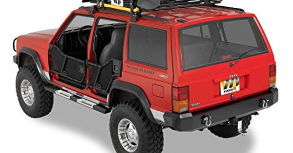 Warrior Products 7432 Rock Bars With Black Step For Chero Jeep Cherokee Xj Jeep Jeep Cherokee