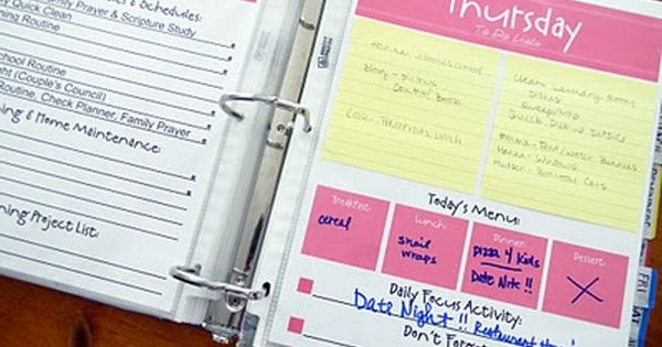 GREAT ideas and printables for home organizer binder!