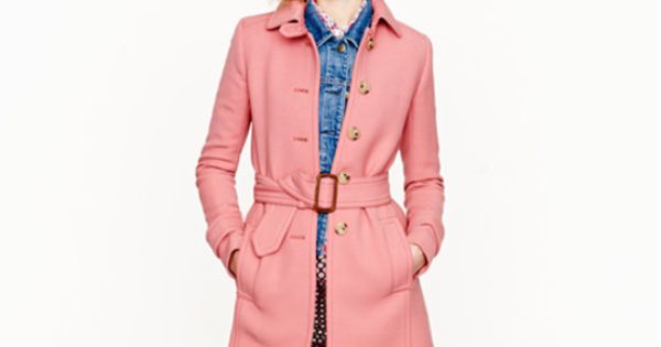 Pink trench. gah!!! >>> Double-cloth slim trench
