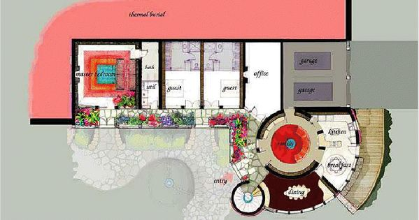 Castle earthship floor plan green dome tiny homes for Tiny castle house plans