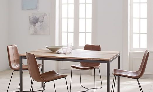 Box Frame Expandable Dining Table West Elm Farmhouse Dining Room Table Expandable Dining Table Contemporary Dining Table