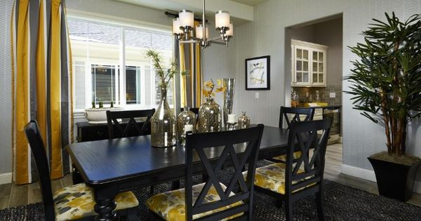 A Modern Dining Room At Silverleaf By Taylor Morrison
