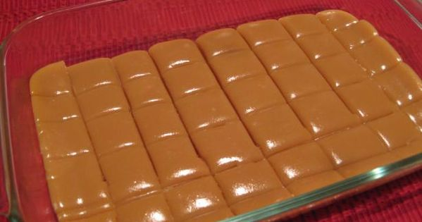 6 minute Microwave Caramels - literally mix ingredients & stir. Perfect for