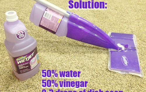 DIY Swiffer WetJet Solution [To remove old bottle cap: Dip the tip
