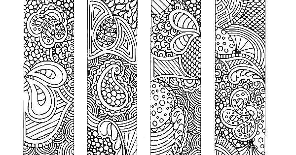 Bookmarks Indonesian Batik Bookmarks Coloring Pages