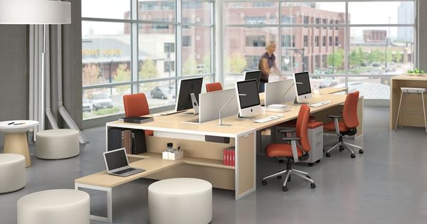 Small Home Office Open Space: Tour Bench Collaborative Office Tables