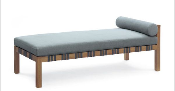 Calvin Kline Klini Chaise Solid Wood Frame With Woven