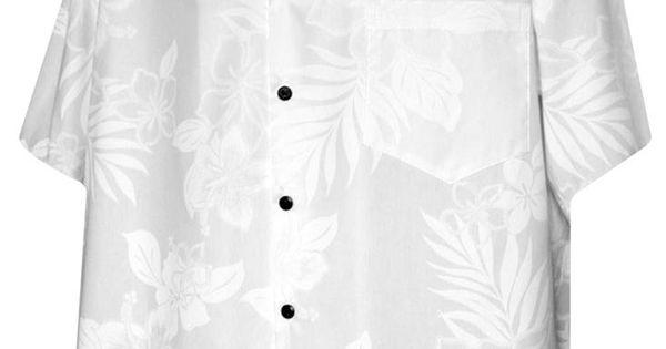 hibiscus shadows mens hawaiian aloha shirt white