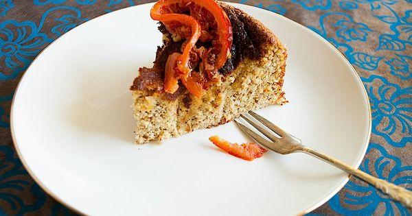Hazelnut, honey and orange cake with orange blossom custard | Recipe ...