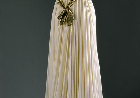 Madame Grès: Evening gown Evening gown, 1954 (French, 1903–1993) White silk jersey