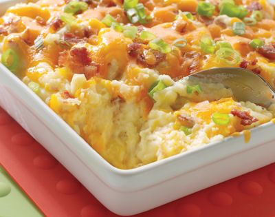 Baked Potato Casserole. food recipe potatoes casserole side_dishes