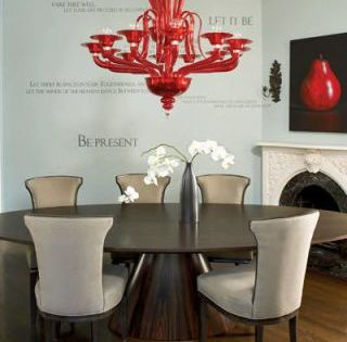 Feng Shui And Vastu Shastra Sans The Spiritual Stuff Dining Room Contemporary Red Chandelier Decor