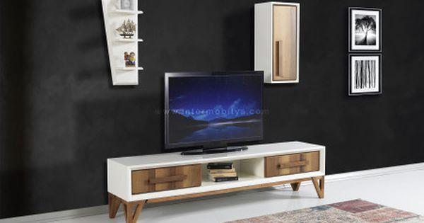 ren ekru ceviz tv unitesi tv tv unitesi modern
