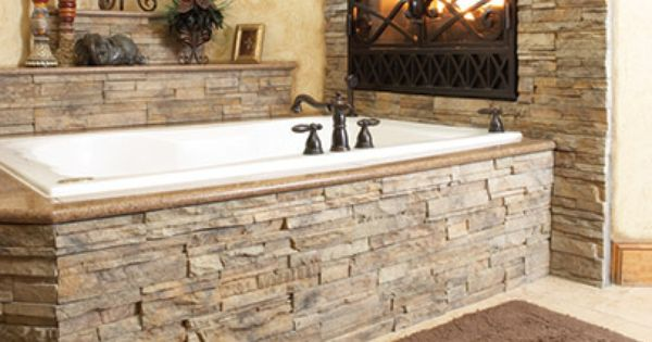 New Manufactured Stone Veneer Bathroom Pinterest