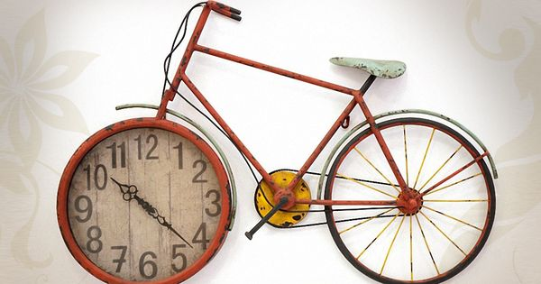 Horloge d co murale en forme de v lo vintage pinteres for Decoration murale velo