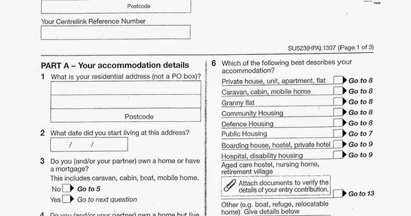 centrelink rent certificate form su523 pdf