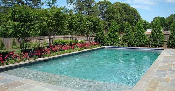 Tanning ledges pools tanning ledge for Pool design with tanning ledge