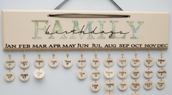 What a great idea! family birthday reminders!