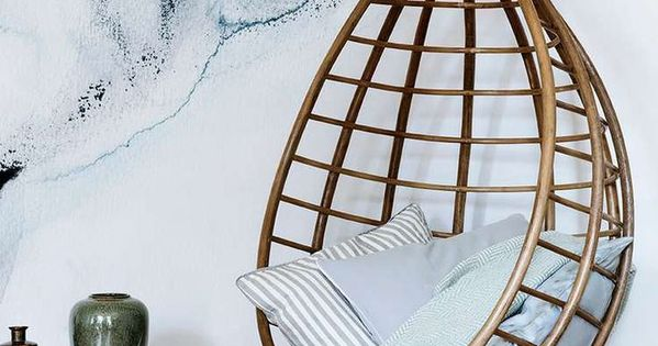 The watercolour interiors trend is still going strong - Fauteuil suspendu cocoon ...