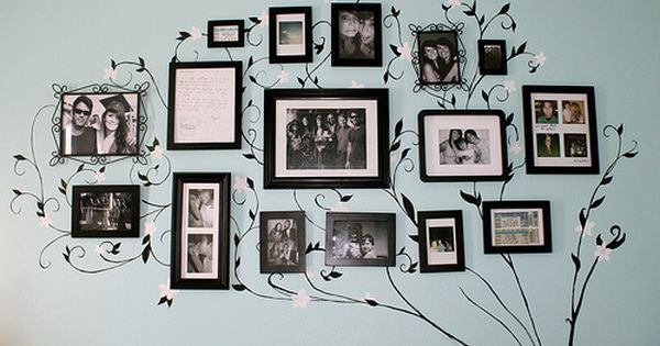 Picture Frame Wall / Art / Photo wall layout