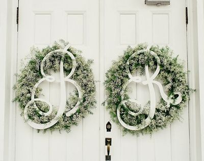 Monogram Wreath Steel Magnolias Wedding by Brooke Images « Southern Weddings Magazine