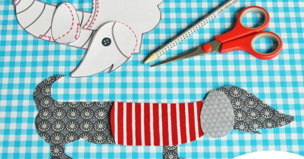 DIY Fabric Dachshund! (you'll need google translator for this one!) dachshund diy
